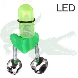 Rolnička dvojitá s klipem LED, plast
