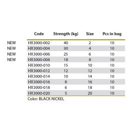obratlík BARREL BLACK (černý) vel. 16/8 kg - 10 ks