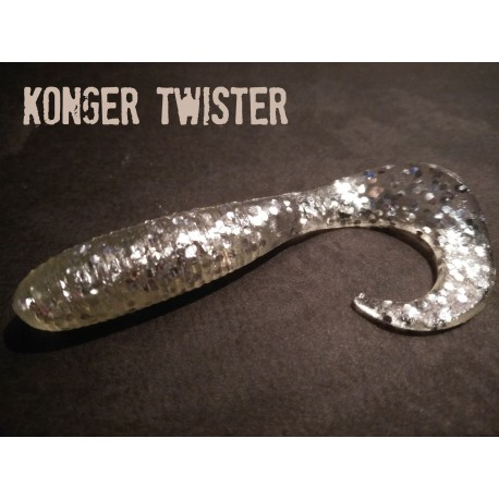 KONGER twister WHITE SILVER 45mm 10ks